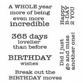 Woodware - Birthday Moves - Clear Magic Stamp Set - FRS032